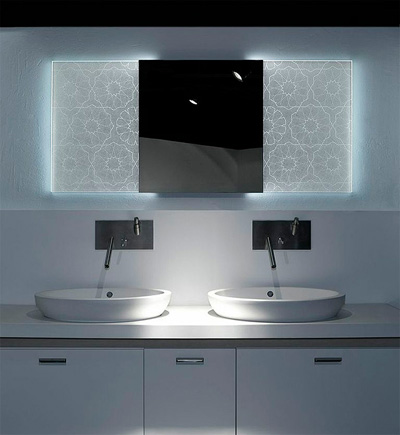 Espejos hologr ficos de led holotech crystals arquitectura - Espejo retroiluminado bano ...