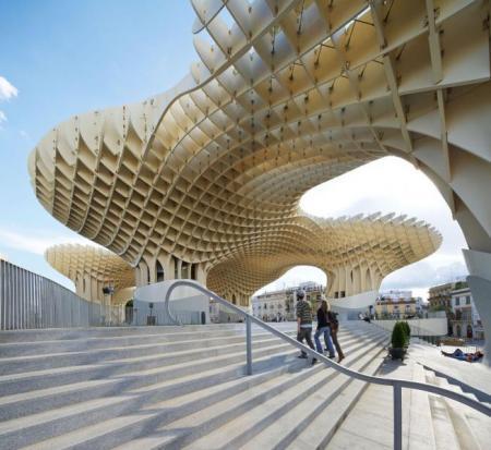 Metropol parasol, las setas de la encarnación, Jürgen Mayer, Sevilla, madera