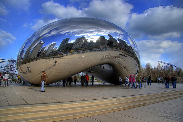 © Monika Thorpe  Millennium Park  Parque del milenio Chicago  Jay Pritzker Pavilion Frank Gehry  Cloud Gate Anish Kapoor