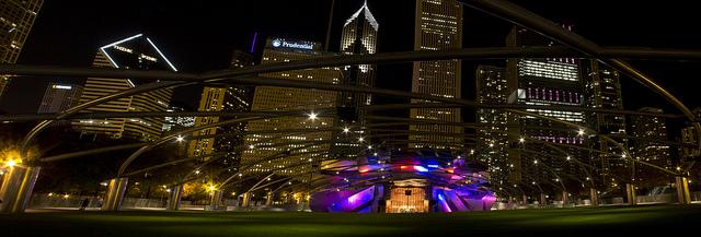 Millennium Park  Parque del milenio Chicago  Jay Pritzker Pavilion Frank Gehry