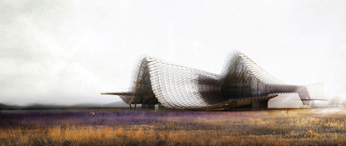 Pabellón China, Expo Milán 2015, Studio Link-Arc, Agricultura china, cubierta flotante