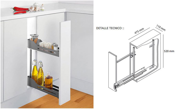 Accesorios de cocina peka hbt arquitectura for Accesorios para interiores de armarios de cocina