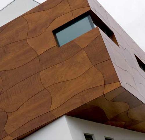 Revestimiento de madera para exteriores prodema arquitectura for Techos de madera para exterior