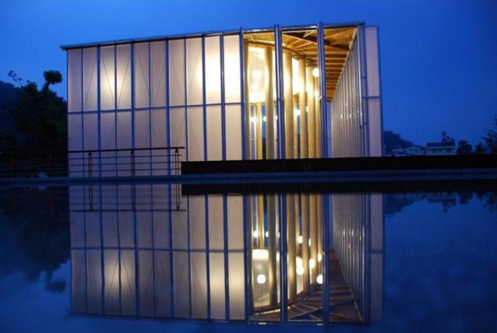 Shigeru Ban, Pritzker Auditorium L'Aquila, Kobe, Paper Dome, Pompidou, Metz