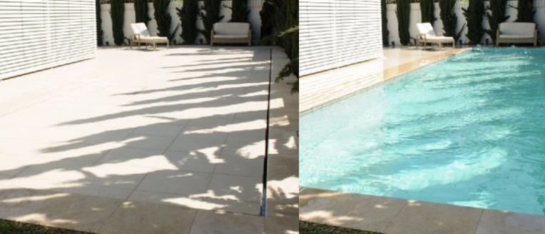 El suelo que se transforma en piscina arquitectura for Piscinas sobre suelo