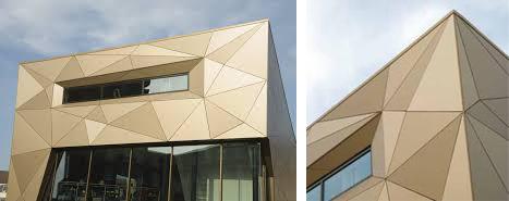 el material puede cortarse e instalarse en variadas formas y perfiles asimismo el sistema se puede combinar con las placas curvadas trespa curved