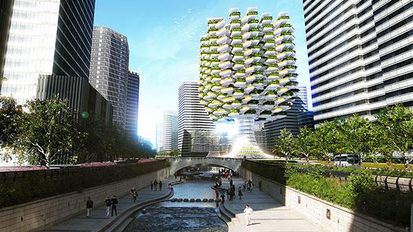 Hidroponia, Urban Skyfarm, Estudio Aprilli, Rascacielos, Huerto urbano