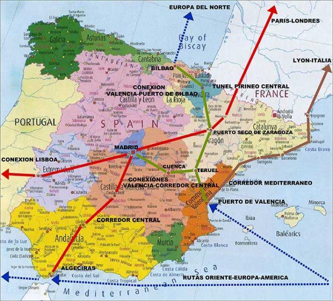 Valencia Ejes Internacionales Transporte