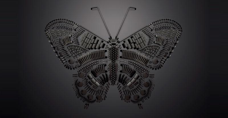 FSB manillas de diseño de autor mariposa