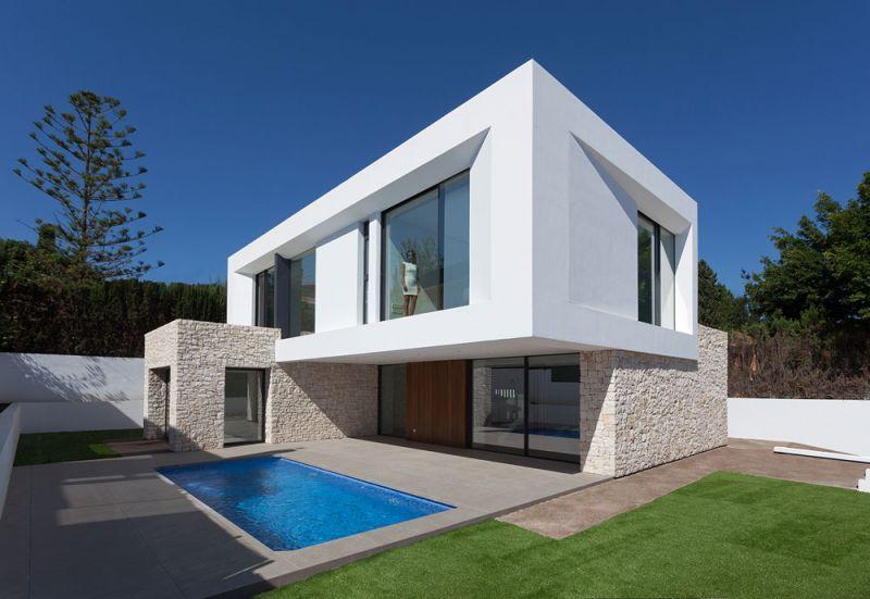 arquitectura casa wedge antonio altarriba CHE fotografía de Diego Opazo exterior general piscina