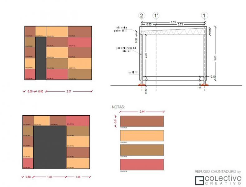 Arquitectura_proyecto Vimob, colombia_ alzados y seccion