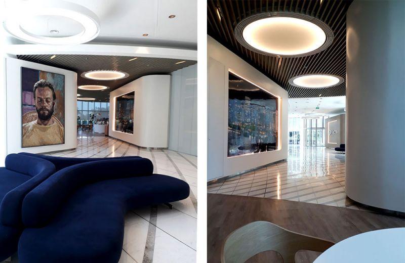 arquitectura y empresa cesar pelli torre macro interior