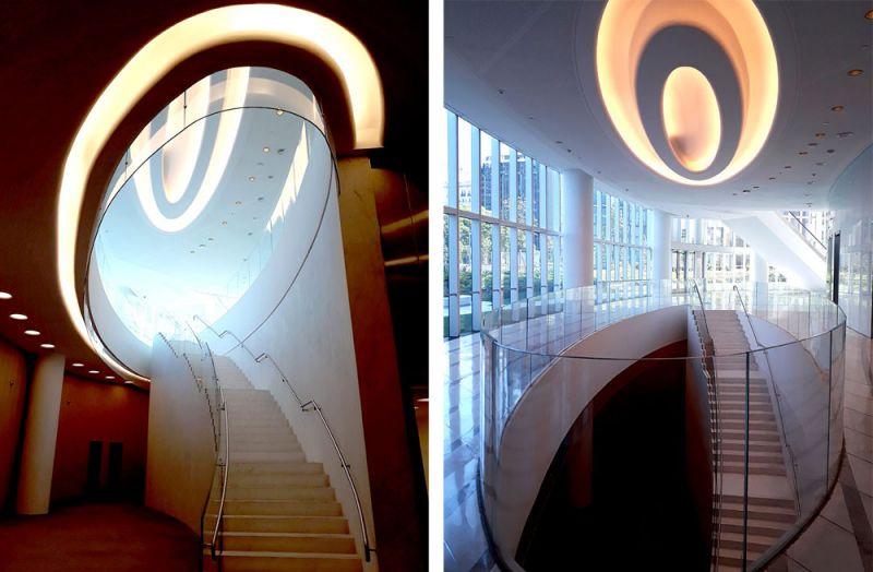 arquitectura y empresa cesar pelli torre macro interior escaleras