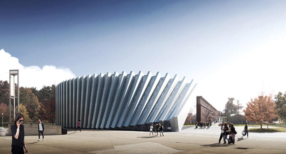El dise o en la arquitectura una fachada con efecto for Arquitectura universidades