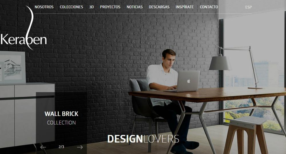 Nueva p gina web keraben una ventana al dise o arquitectura for Arquitectura pagina web