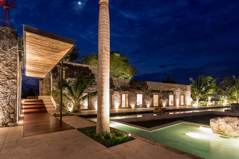 Arquitectura_rehabilitacion_niop_seccion_exterior_noche