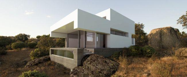 Vivienda modular en ladera