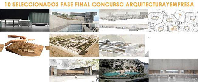 Resultados 2ª fase concurso Arquitecturayempresa 2016