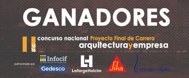 Ganadores II Concurso PFC Arquitecturayempresa 2016