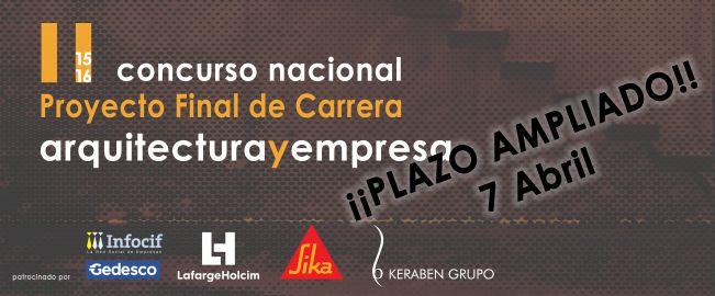 II Concurso Proyecto Final de Carrera - arquitecturayempresa - 2016