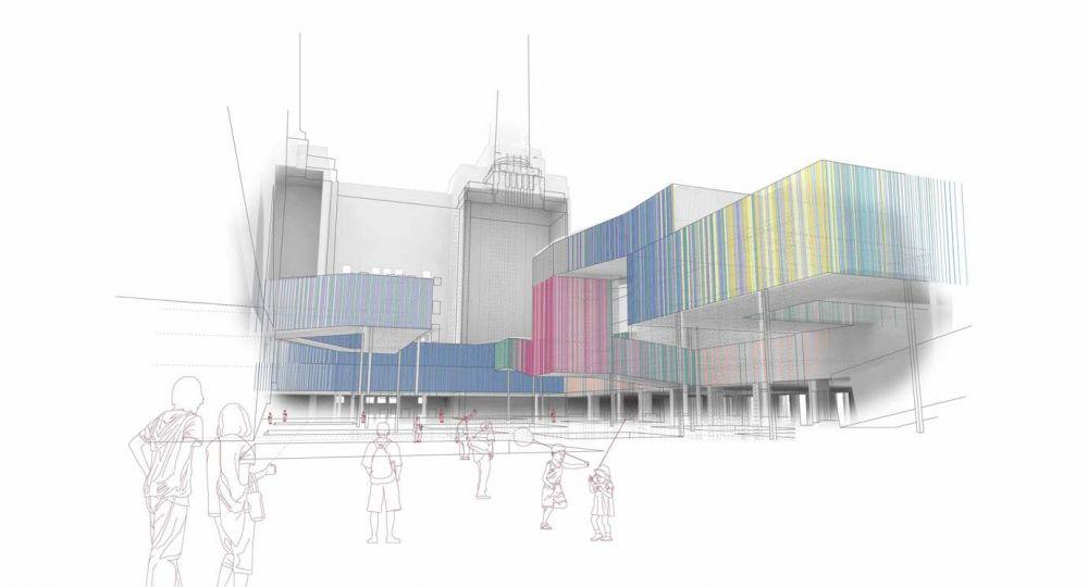 Pop Up Culture Center. Proyecto finalista en el I Concurso PFC Arquitectura y Empresa