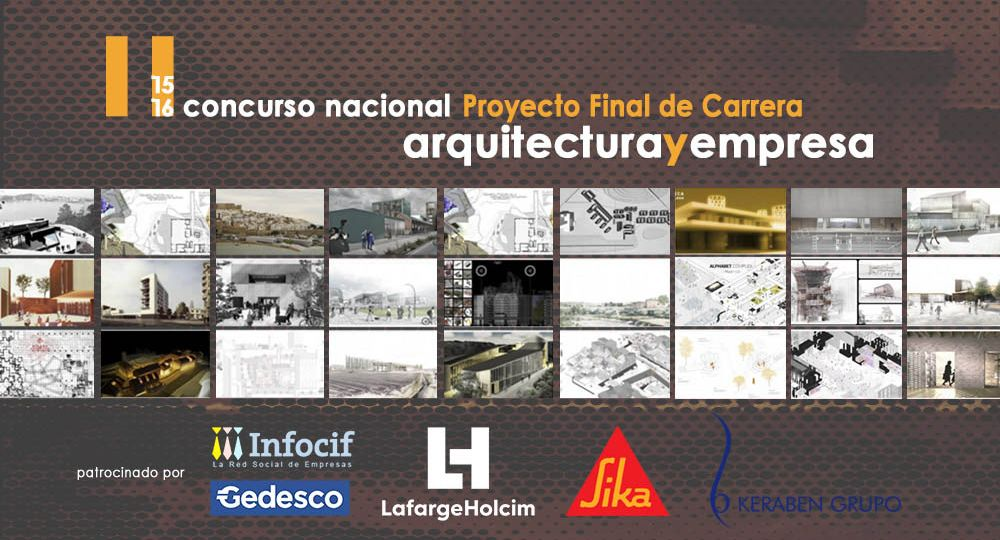 Últimos días para presentarse al concurso de PFC de Arquitecturayempresa