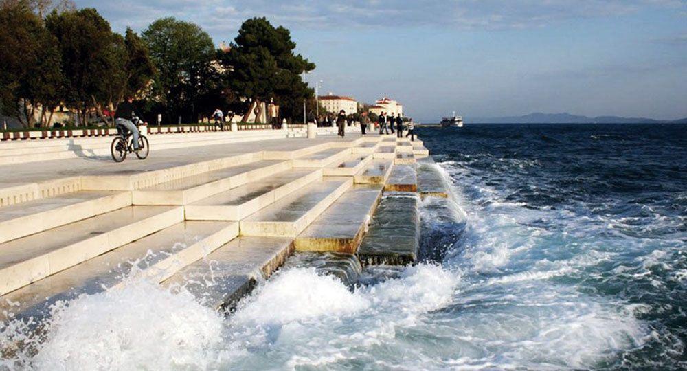Un órgano de 70 metros recoge el sonido del mar Adriático