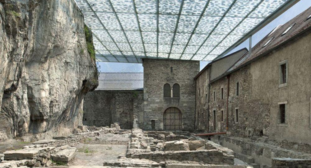 Luz tamizada, Abadía de Saint Maurice, Suiza