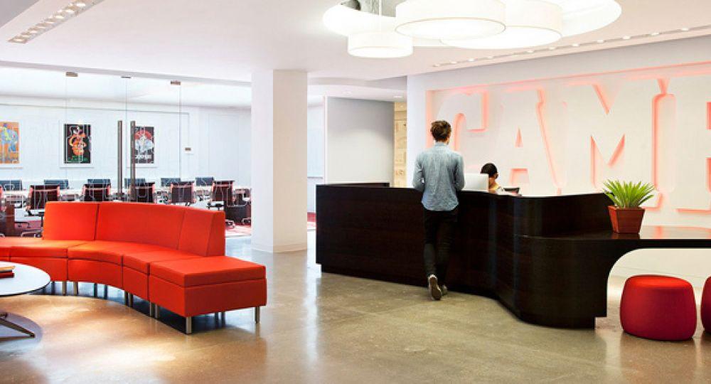 Arquitectura del espacio de trabajo, Campari America por Rapt Studio