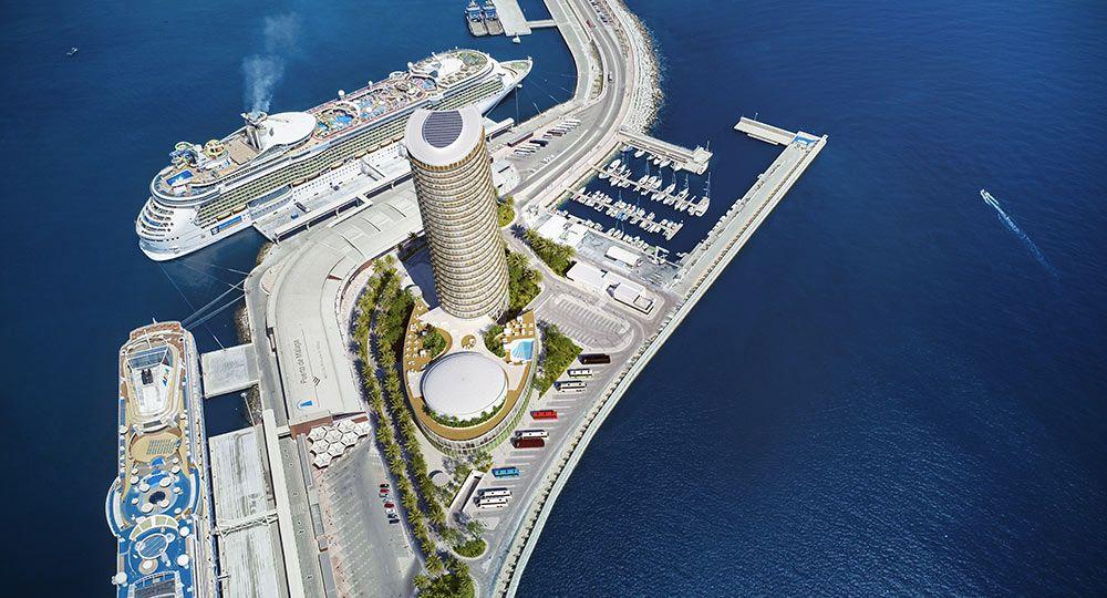 Arquitectura aerodinámica: Hotel Torre del Puerto, un nuevo hito para la ciudad de Málaga