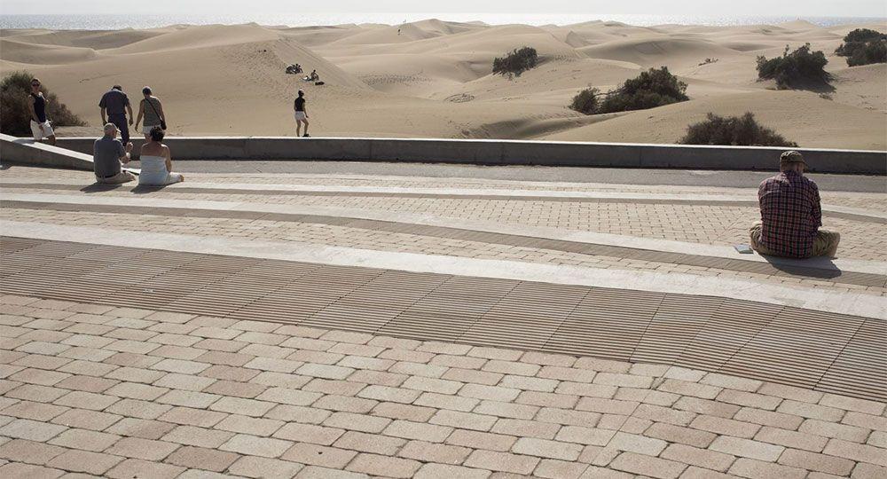 El mirador de las dunas de Maspalomas