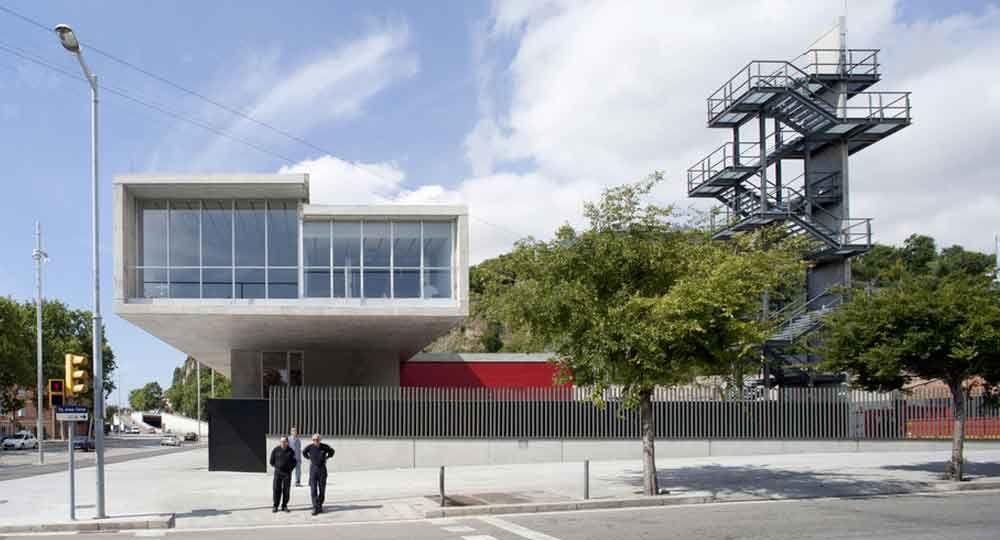 Parque de Bomberos de Montjuïc, por Ruisánchez Arquitectos