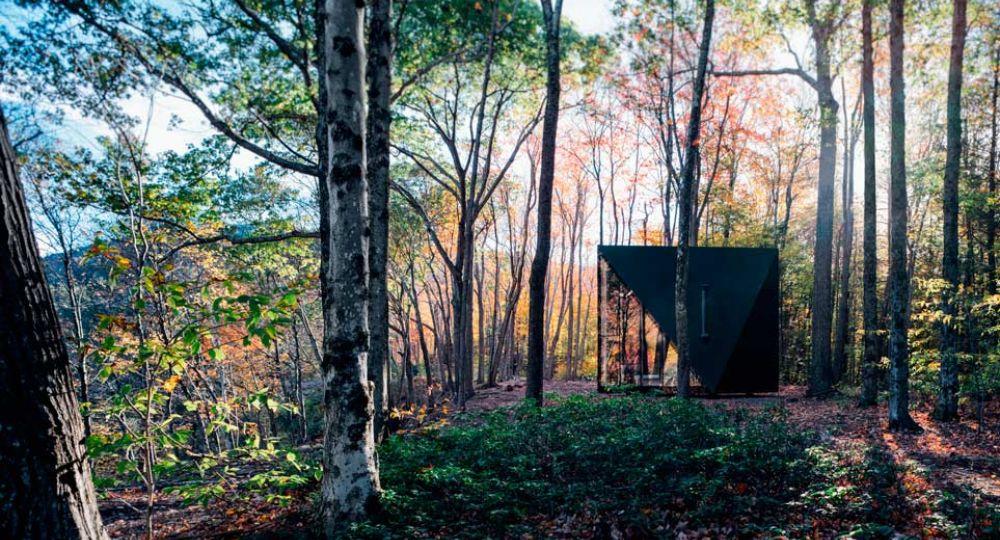 Arquitectura minimalista en el bosque. A45 de BIG.
