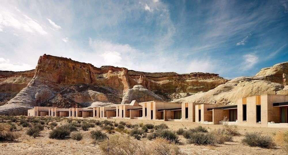 Arquitectura donde alojarse en el desierto: complejo hotelero Amangiri