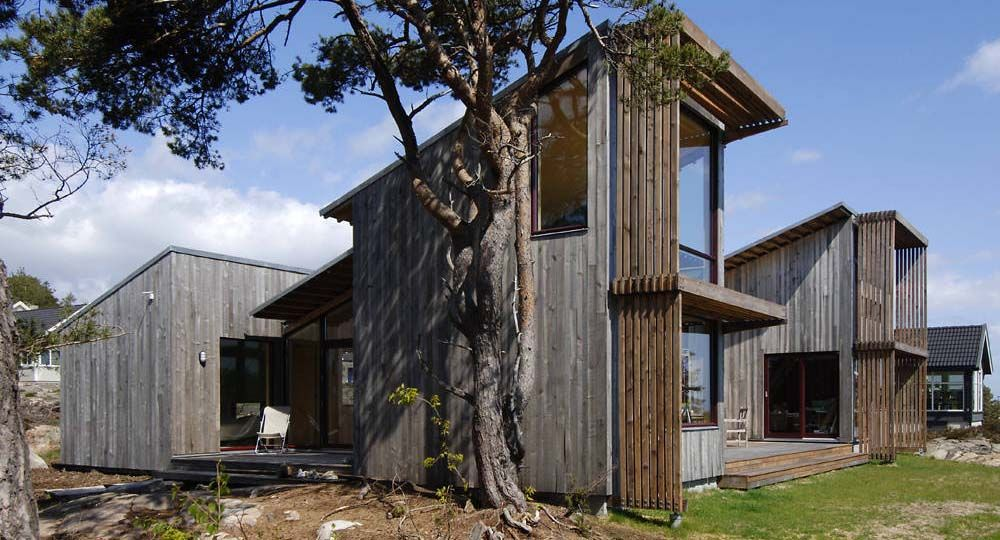 Arne Henriksen Arquitectos. 2 cabañas de madera.