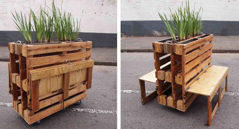 "Bancos con pallets reciclados: ""Brothers in Benches"""