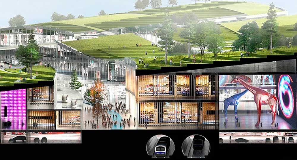 Europa City: la ciudad sostenible excavada diseñada por BIG
