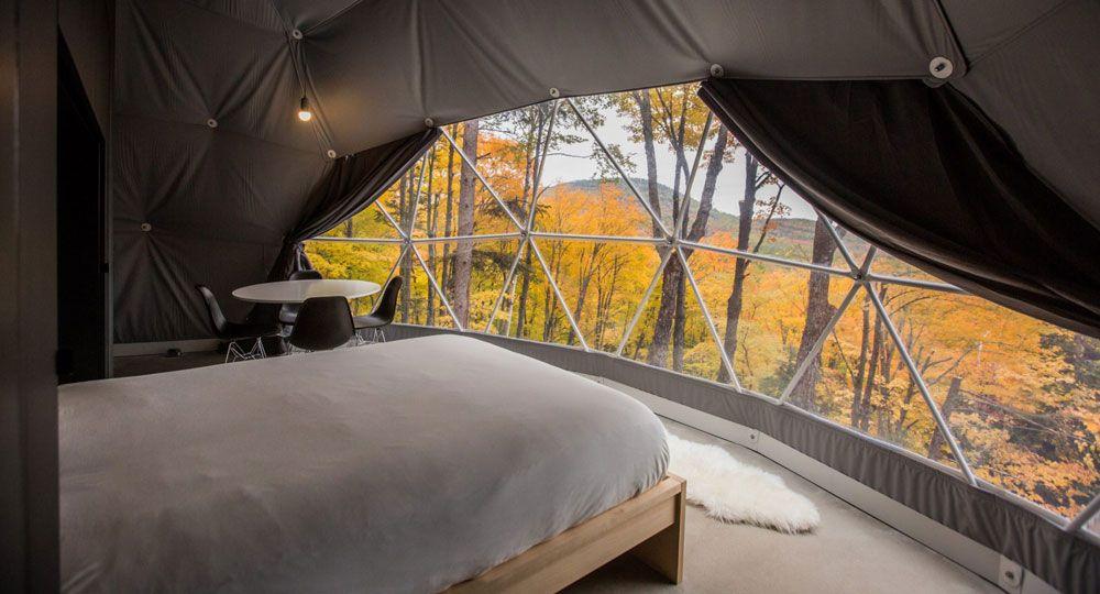 Dômes Charlevoix: arquitectura de cúpulas eco-luxury