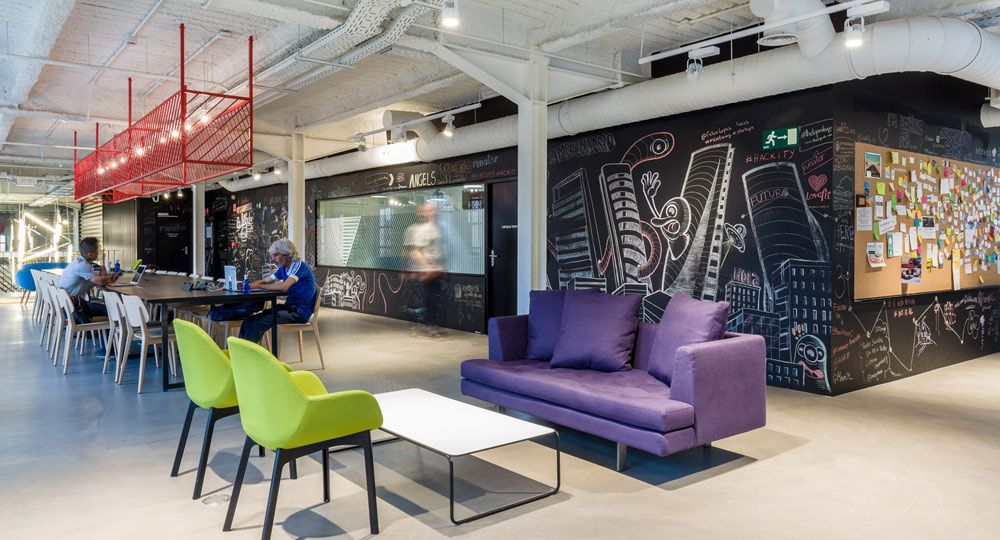 Google Campus en Madrid, arquitectura industrial habilitada para co-working