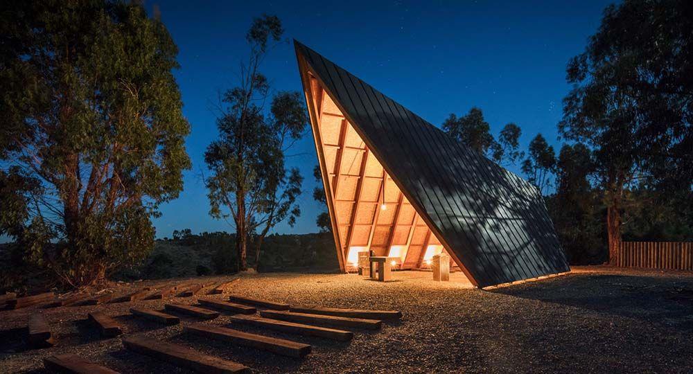 Arquitectura religiosa en comunión con la naturaleza: Capilla de Nuestra Señora de Fátima. Plano Humano Arquitectos