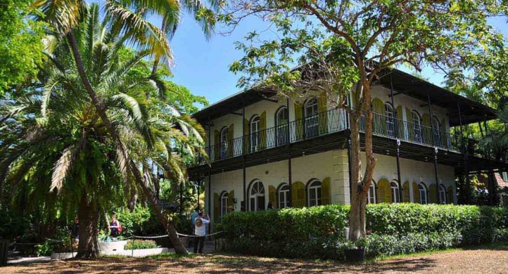 La casa museo de Ernest Hemingway Arquitectura Patrimonio de Key West, Florida.