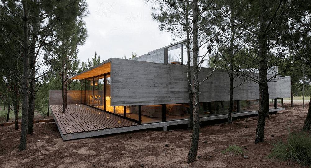 Hogar de hormigón: casa L4 del estudio Luciano Kruk Arquitectos