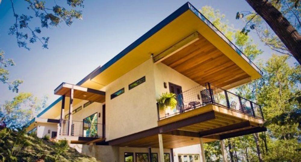 Casas realizadas con  paneles y ladrillos fabricados a base de cáñamo de planta de cannabis
