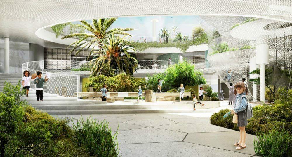 Colegio Sostenible en Dubai. CEBRA Architecture