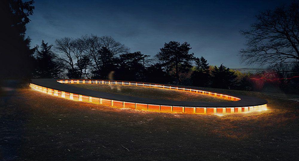 La arquitectura y el paisaje. Cedar Hill Loop, pabellón móvil en Central Park.