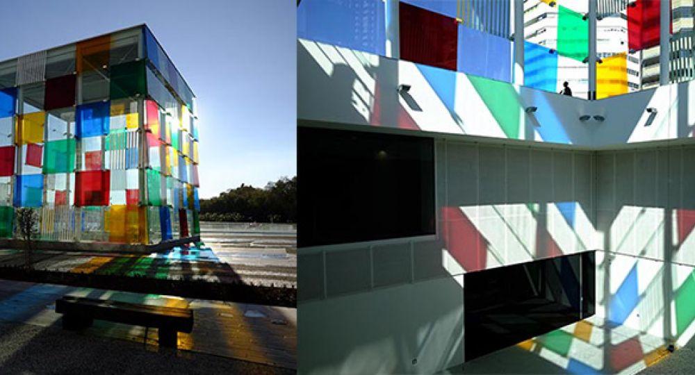 Arquitectura con cemento transparente en el Nuevo centro Pompidou de Málaga