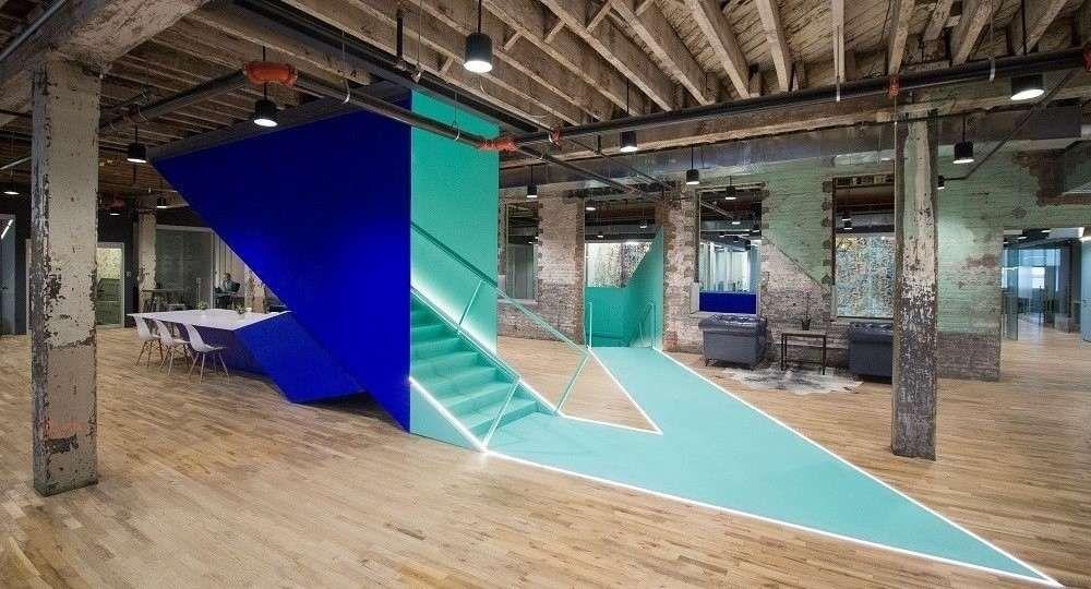 Espacio de coworking en Brooklyn, por Leeser Architecture