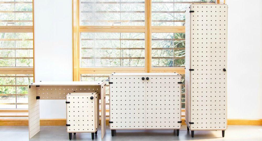 Crisscross. Mobiliario Flat-Pack diseñado para adaptarse