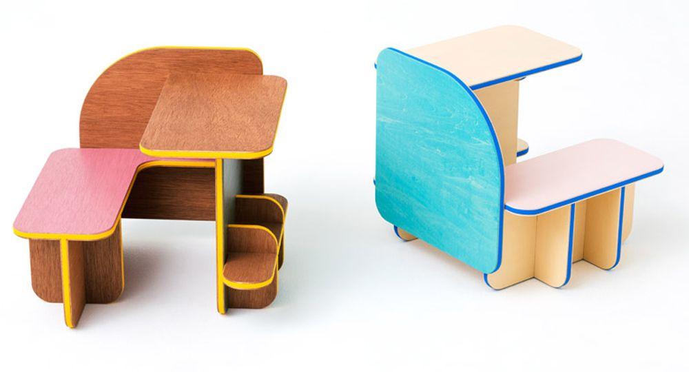 Las diferentes caras de un mueble, la colección DICE de Torafu Architects