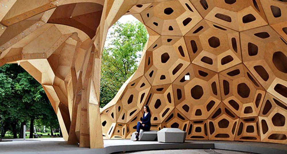 Arquitectura efímera en madera: pabellones de diseño.